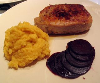 rutabaga puree with sauerkraut & nutmeg