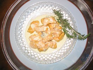 sweet potato gnocchi with rosemary gorgonzola cream sauce